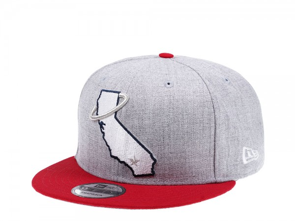 New Era California Angels Heather Red Edition 9Fifty Snapback Cap