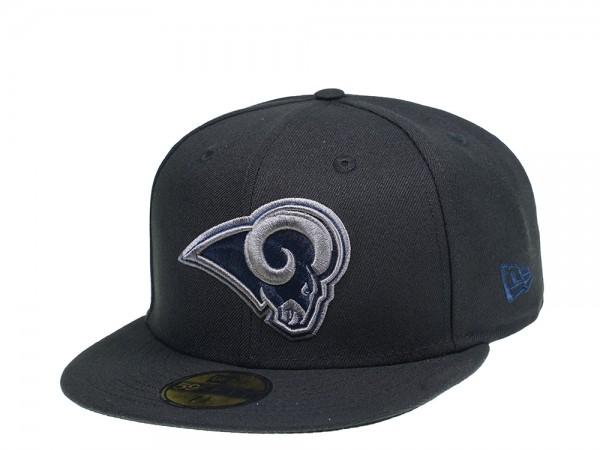 New Era Los Angeles Rams Dark Grey Edition 59Fifty Snapback Cap