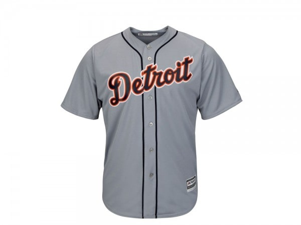 Majestic Detroit Tigers Cool Base MLB Trikot grau