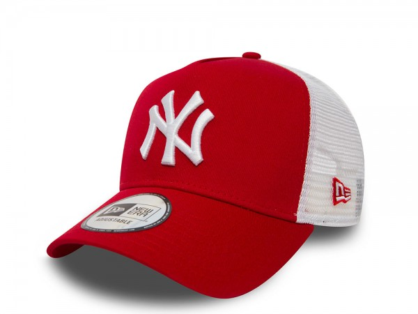 New Era New York Yankees Red and White Trucker Snapback Cap