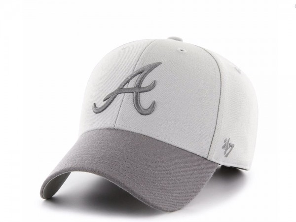 47Brand Atlanta Braves Steel Grey MVP Snapback Cap