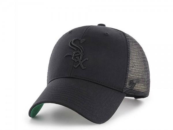 47Brand Chicago White Sox Black on Black MVP Trucker Snapback Cap