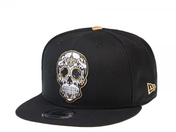 New Era New Orleans Saints Skull Edition 9Fifty Snapback Cap