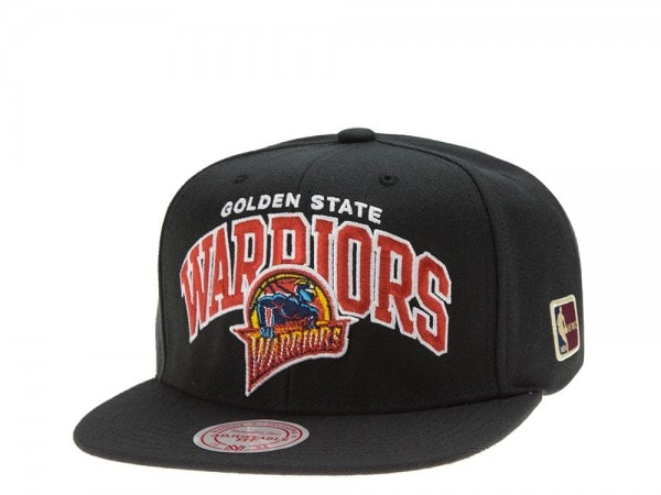 Mitchell & Ness Golden State Warriors Team Arch black Snapback Cap