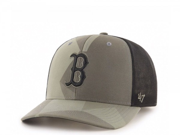 47Brand Boston Red Sox Sandalwood MVP DP Trucker Snapback Cap