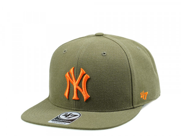 47Brand New York Yankees Olive No Shot Captain Snapback Cap