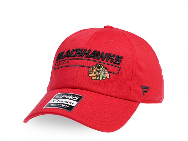 Fanatics Chicago Blackhawks Authentic Red Pro Rinkside Adjustable Strapback Cap