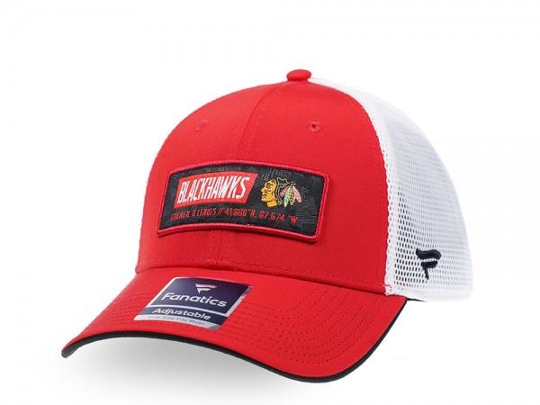 Fanatics Chicago Blackhawks Red Iconic Trucker Snapback Cap