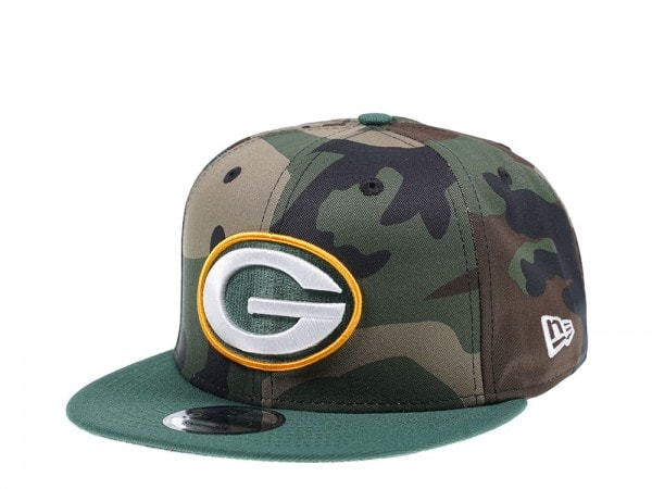New Era Green Bay Packers Woodcamo Edition 9Fifty Snapback Cap