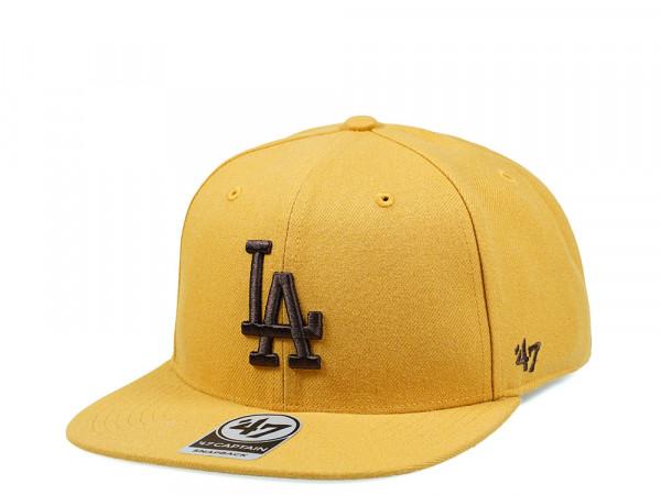 47Brand Los Angeles Dodgers Wheat No Shot Captain Snapback Cap