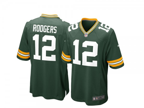 Nike Green Bay Packers Aaron Rodgers Home Game NFL Jersey