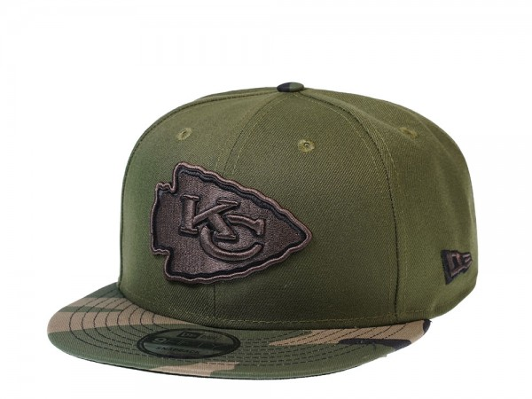 New Era Kansas City Chiefs Wood Camo 9Fifty Snapback Cap