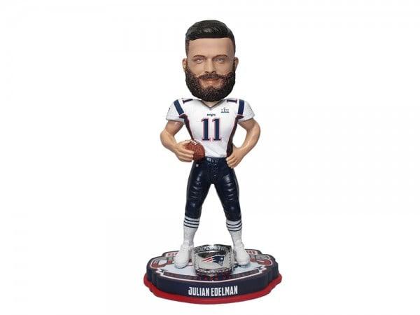 New England Patriots Julian Edelman Bobblehead Figur Super Bowl LIII Champs