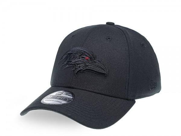 New Era Baltimore Ravens Tonal Black 39Thirty Stretch Cap